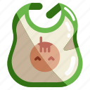 baby, bib, child, clothes, clothing, kid icon