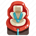 baby, car, child, protection, safety, seat, security icon