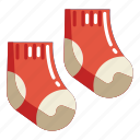 clothes, clothing, foot, sock, socks, warm, winter icon
