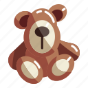 baby, bear, brown, childhood, soft, teddy, toy
