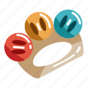 baby, child, color, fun, kid, rattle, toy icon