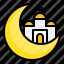 crescent, islam, masjid, moon, mosque, muslim, ramadan icon