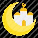 crescent, masjid, moon, mosque, muslim, ramadan