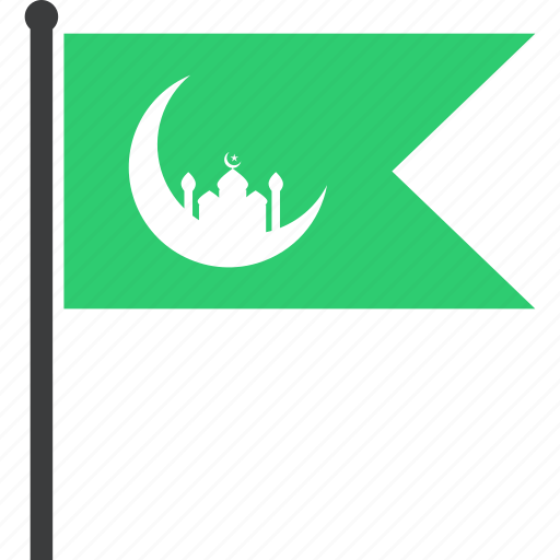 crescent, festival, flag, islam, muslim, ramadan, ramzan icon