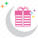 celebrate, christmas, festival, gift, present, ramadan, stars icon