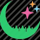 mosque, ramadan, crescent, stars, prayer, ramzan, islam