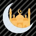 crescent, islam, moon, mosque, muslim, prayer, ramadan icon