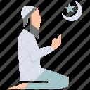 islam, man, muslim, pray, prayer, ramadan, salat icon