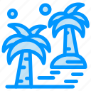 arecaceae, beach, date, palm, tree icon