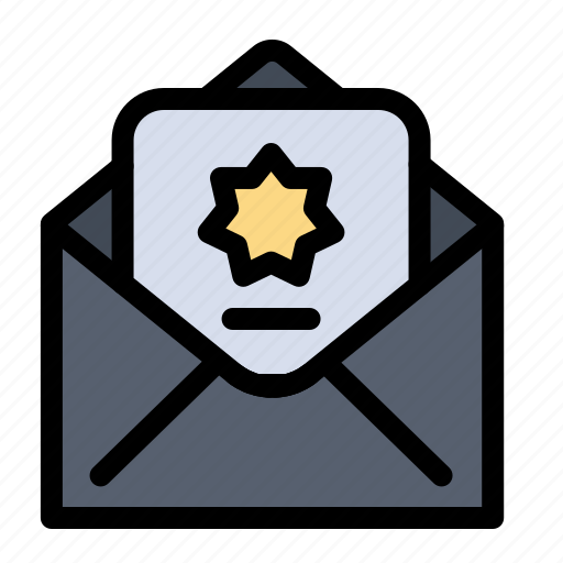 donation, envelope, islam, mail icon