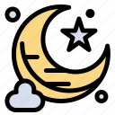 moon, new, star icon