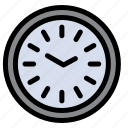 clock, dinner, iftar, time, wall icon