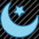 crescent moon, crescent, moon, night, ramadan, muslim, islam