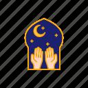 fitr, forgive, hand, islam, mosque, muslim, night