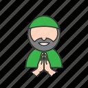 forgive, hand, man, muslim icon