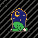 islam, muslim, night, praying, shalat, sujud, tahajjud icon