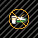 drink, eat, fasting, no, ramadan icon