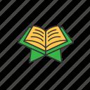 book, holy, islam, muslim, quran, read icon
