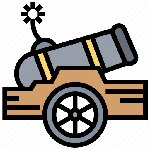 army, attack, cannon, enemy, war icon