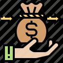 benevolence, charity, donation, generosity, money icon