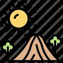 desert, landscape, sand, sunny, wasteland icon