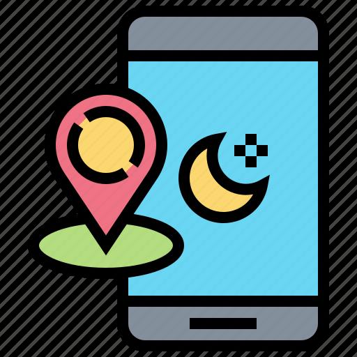 application, location, mobile, muslim, ramadan icon