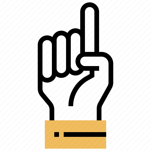 counting, finger, hand, one, point icon