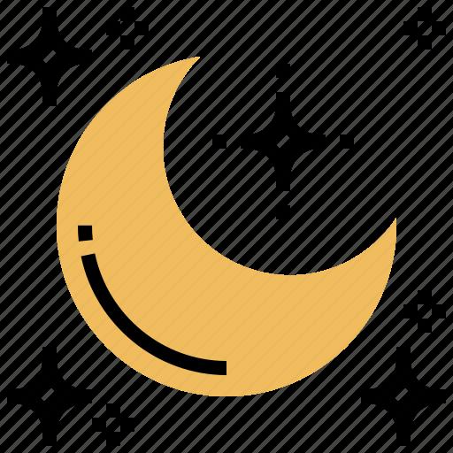 crescent, luna, moon, night, ramadan icon