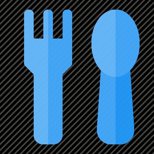 dinner, food, fork, kitchen, restaurant, spoon, table icon