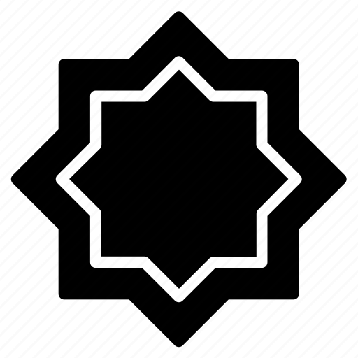 islamic, moslem, octagonal, ramadan icon