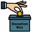 box, charity, donation, islamic, mosque icon