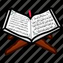book, holy, islamic, quran, ramadan, religious icon