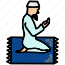 dua, islamic, namaz, praying icon