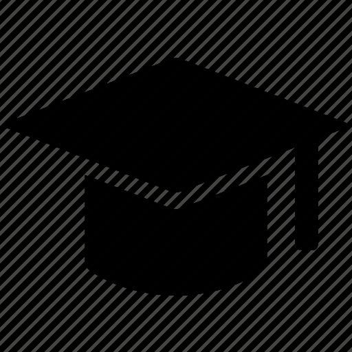 cap, degree, education, graduate, graduation, mortar board icon