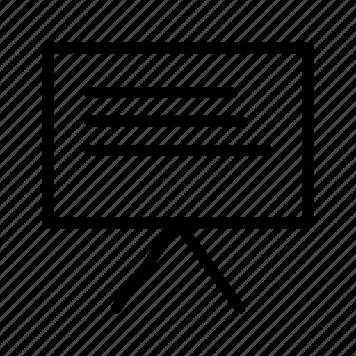 black borad, chalk borad, presentation, report icon