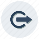 entrance, exit, login, logon, sign in, sign on icon