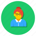 debater, educator, lady teacher, lecture, profesor, teacher icon