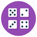 casino, dice cube, gambling, luck game, ludo dices icon