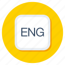 eng, english, language, literature, official language icon