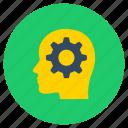 brain, brainstorming, head, insight, mind, think icon