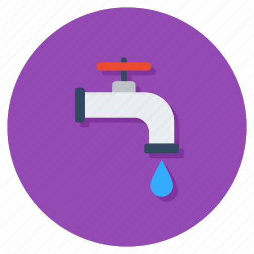 faucet, tap, water flow, water supply, water system, water tap icon