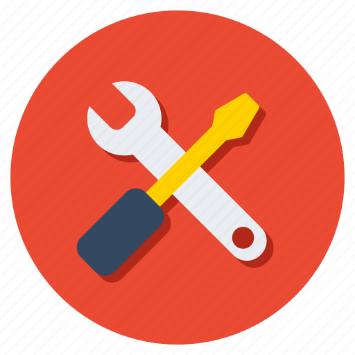 screwdriver, service equipment, service tool, spanner, technical tool, wrench icon