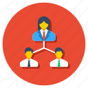 employees, group, leadership, team collaboration, team leader, teamwork icon