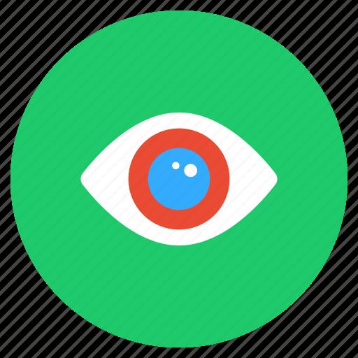 eye, eyeball, human eye, preview, view, vision icon