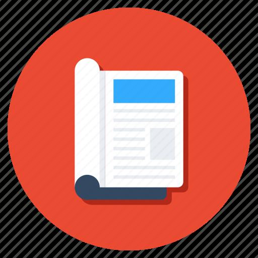 journal, magazine, newsletter, newspaper, reading icon
