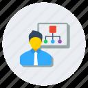 class, classroom, coaching, education class, lecture, training icon