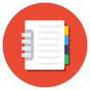 catalog, diary, directory, jotter, notebook, notepad, register icon