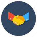 agreement, commitment, contract, handclasp, handshake icon