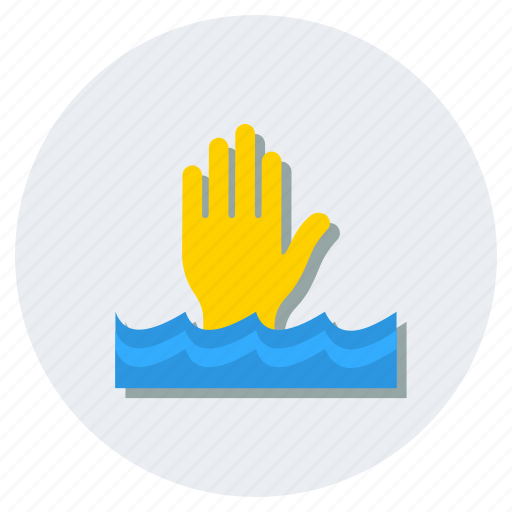 drowning, help, helpless, navigation, person drowning icon