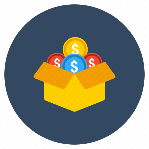 cash box, coin box, ico, initial coin offering, money box icon